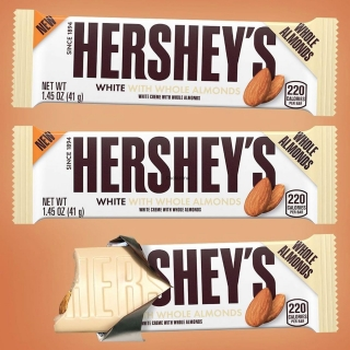 Hershey's white creme almonds 73g